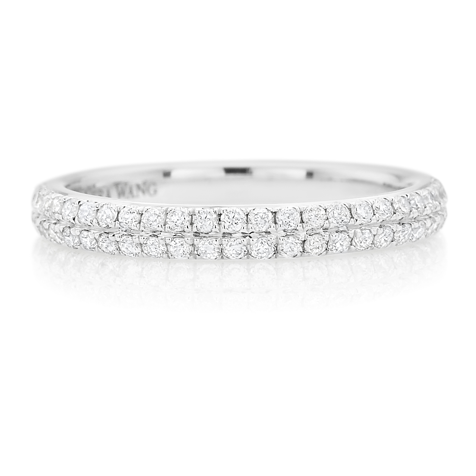 Mazzucchelli's – Celebrating Life's Special Moments Since 1903 With Recent Vera Wang Love Collection Diamond Two Row Anniversary Bands In White Gold (View 4 of 25)