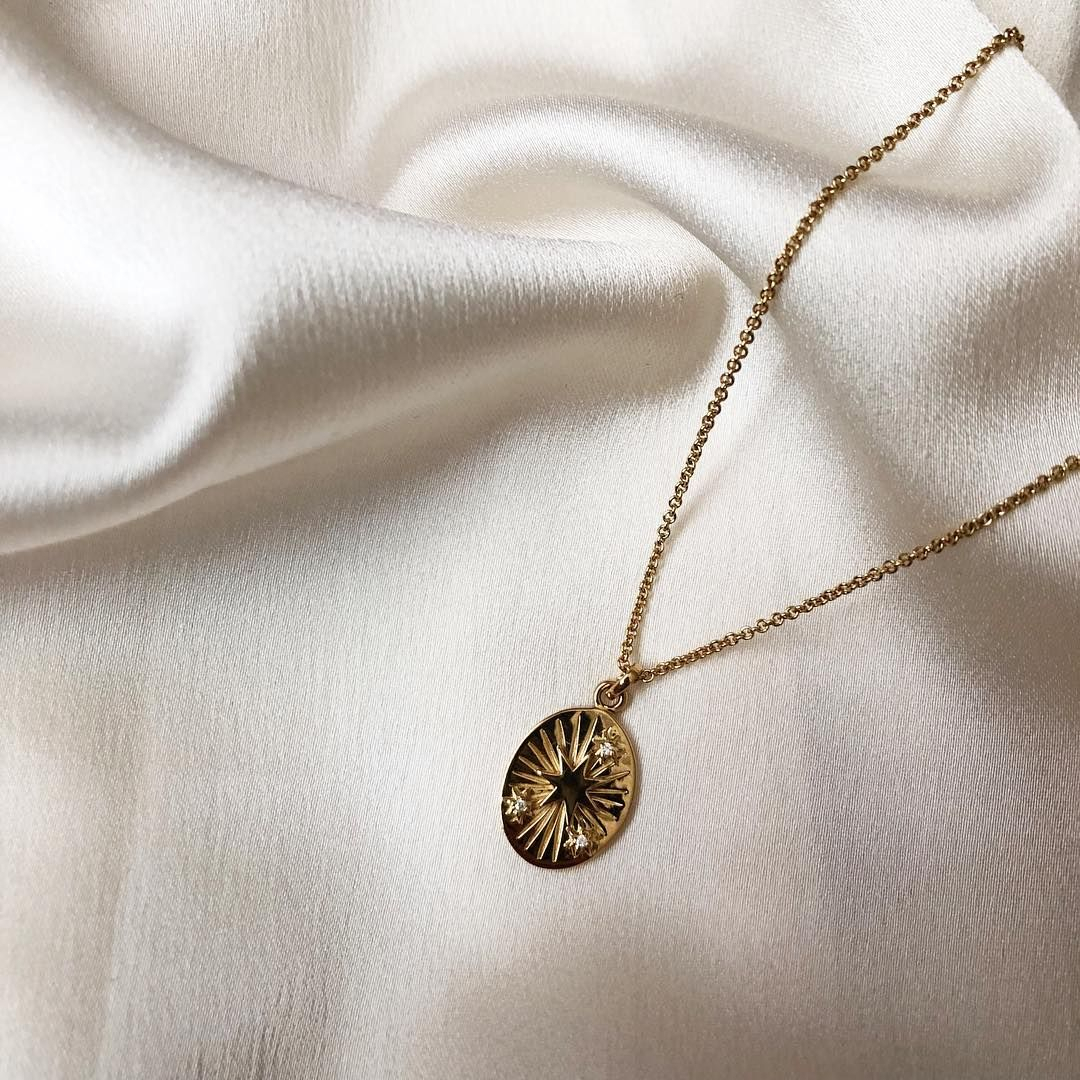 Mejuri Star Necklace | Wishlist | Moon Necklace, Star Necklace, Gold Pertaining To Best And Newest Pavé Star Locket Element Necklaces (View 17 of 25)