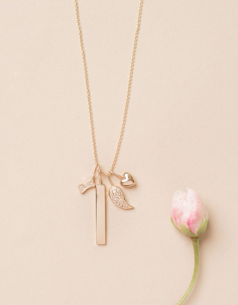 Melanie Auld Jillian Harris And Melanie Auld Adorned Charm Collection –  Pavé Angel Wing Charm Regarding Most Current Pavé Angel Wing Locket Element Necklaces (Gallery 12 of 25)