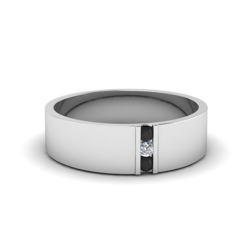 "Men Wedding Bands | Fascinating Diamonds Throughout Most Current Diamond Seven Stone ""x"" Anniversary Bands In Sterling Silver And Rose Gold (View 10 of 25)"