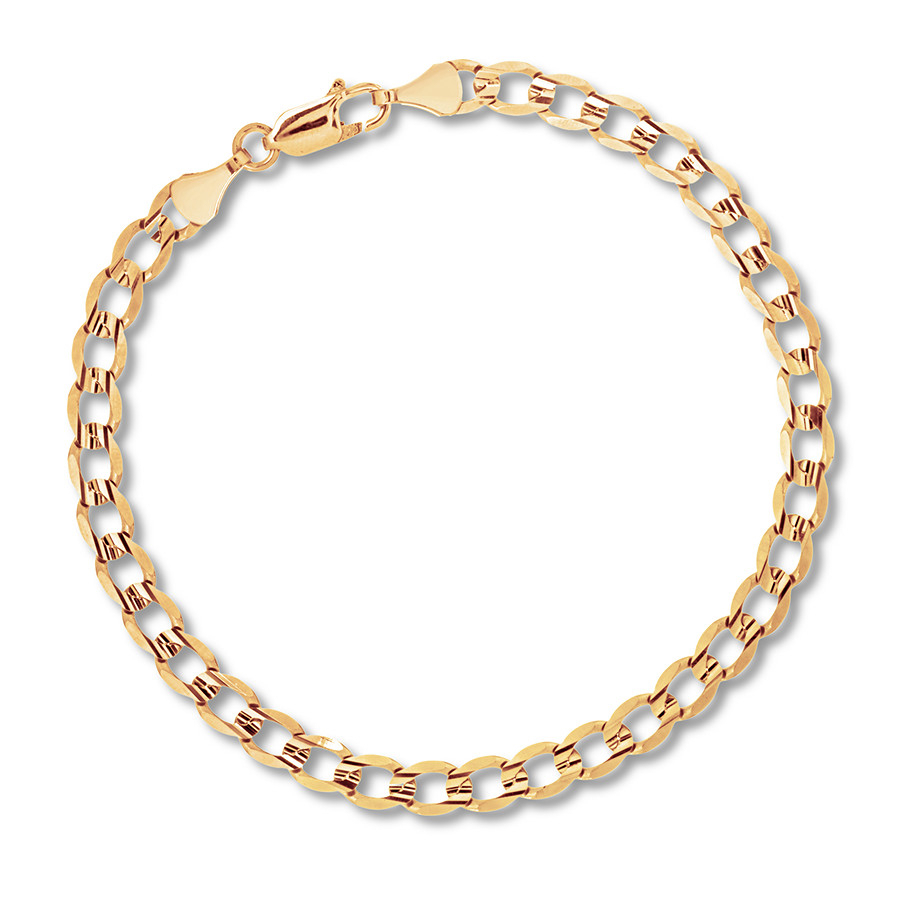 "Men's Curb Chain Necklace 14K Yellow Gold 22"" Length With 2019 Curb Chain Necklaces (Gallery 23 of 25)"