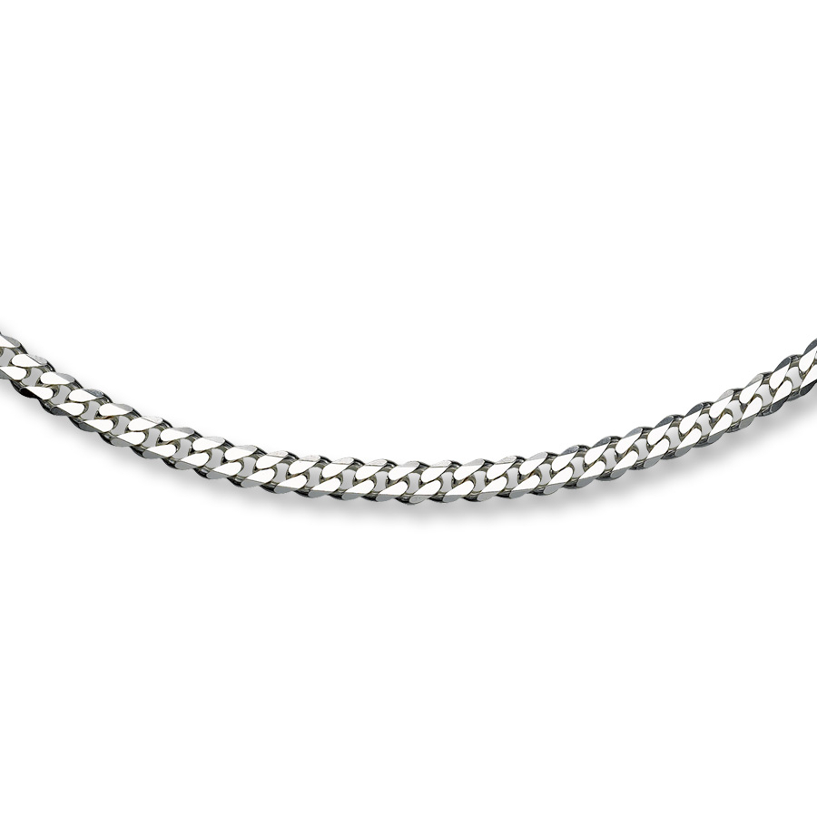 "Men's Curb Link Necklace Sterling Silver 24"" Length Pertaining To Newest Curb Chain Necklaces (Gallery 21 of 25)"