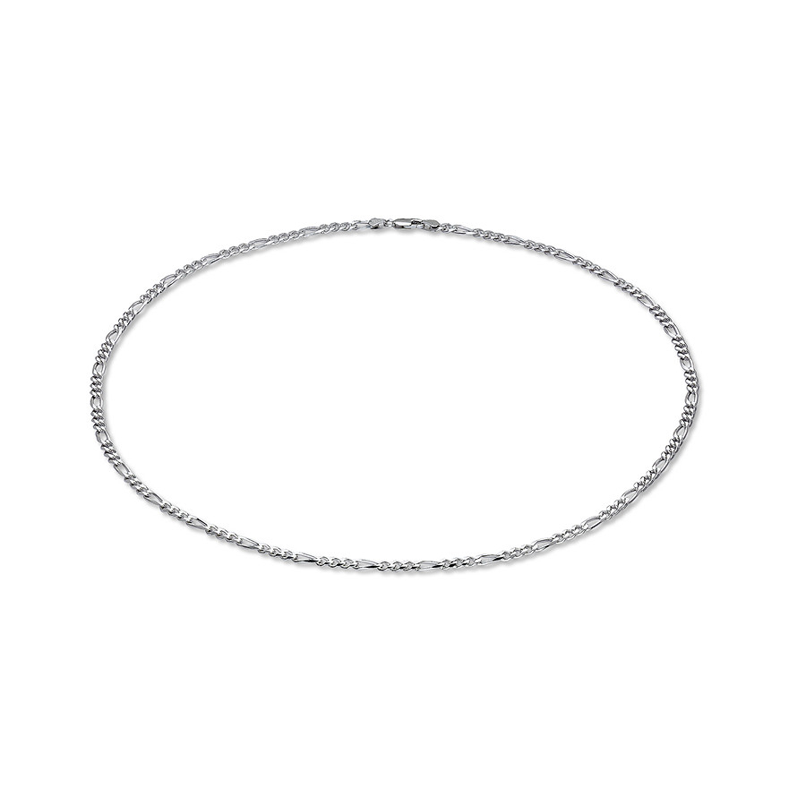 "Men's Figaro Necklace Sterling Silver 24"" Length With Regard To 2019 Classic Figaro Chain Necklaces (Gallery 23 of 25)"