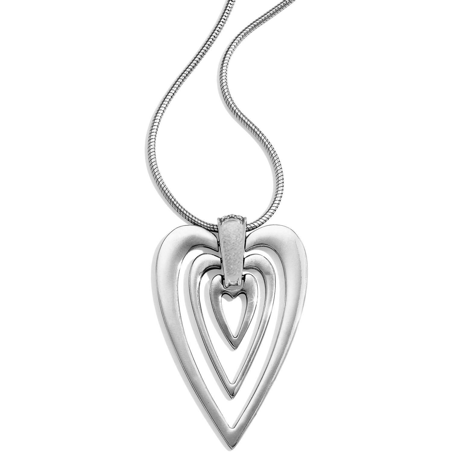 Meridian Swing Hearts Necklace With Most Recent Joined Hearts Necklaces (Gallery 24 of 25)