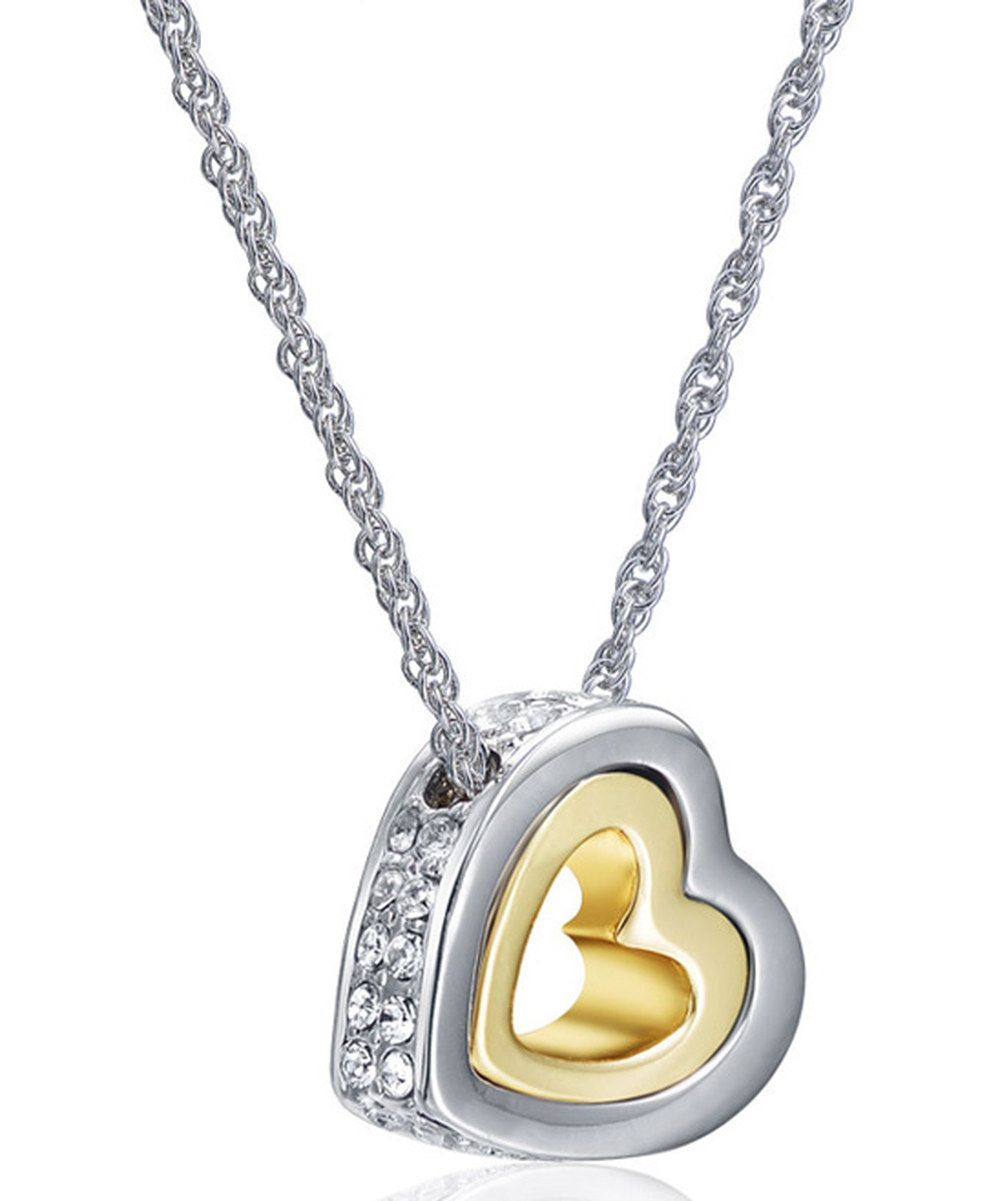 Mestige Gold Hold My Heart Necklace Made With Swarovski Elements For Best And Newest Interlocked Hearts Locket Element Necklaces (View 8 of 25)