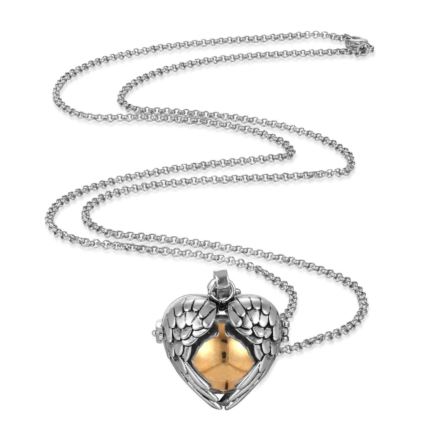 Mexican Bola Harmony Chime Ball Angel Caller Pregnancy Locket Within Most Up To Date Chiming Filigree Hearts Pendant Necklaces (View 21 of 25)