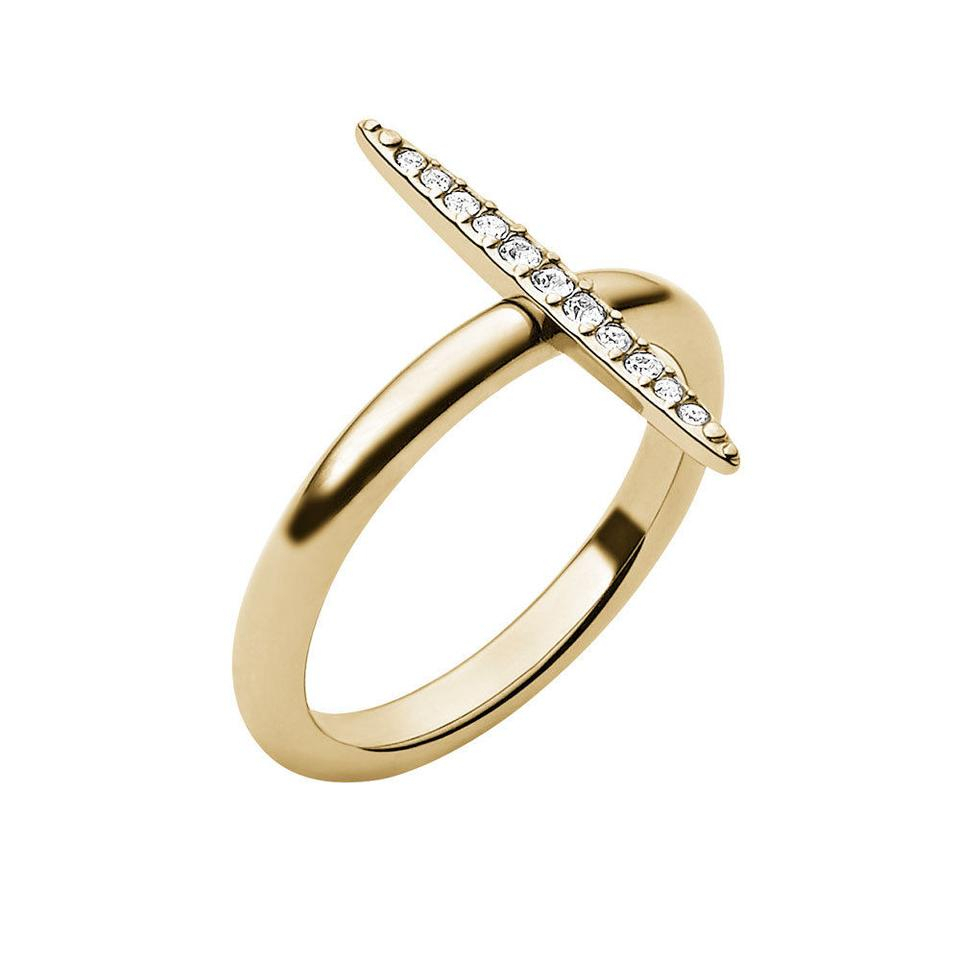Michael Kors Gold Mkj3522 Matchstick Tone Crystal Pave 6 Ring 49% Off Retail With 2017 Polished & Pavé Bead Open Rings (Gallery 24 of 25)