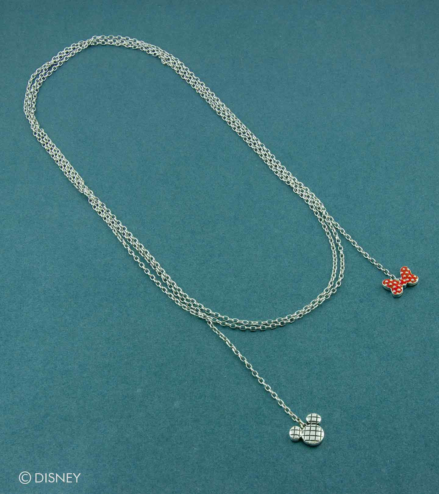 Mickey Loves Minnie Lariat Necklace Regarding Latest Disney Minnie'S Polka Dots Pendant Necklaces (Gallery 10 of 25)