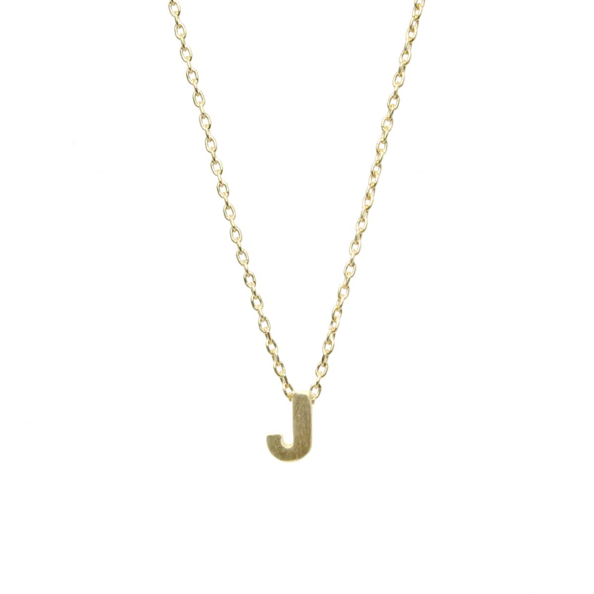 """Micro """"j"""" Initial Necklace Intended For Best And Newest Classic Cable Chain Necklaces (Gallery 25 of 25)"""