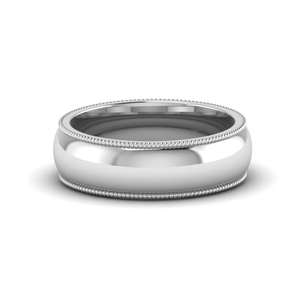 Milgrain Comfort Fit Mens Anniversary Ring For Most Current Diamond And Milgrain Anniversary Bands In White Gold (Gallery 10 of 25)