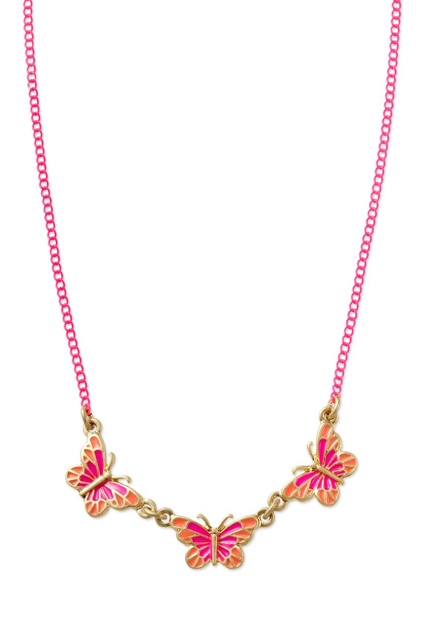 Mini Mariposa Necklace | Stell | Stella And Dot Jewelry | Stella Pertaining To Best And Newest Pink Pavé Butterfly Collier Necklaces (View 8 of 25)