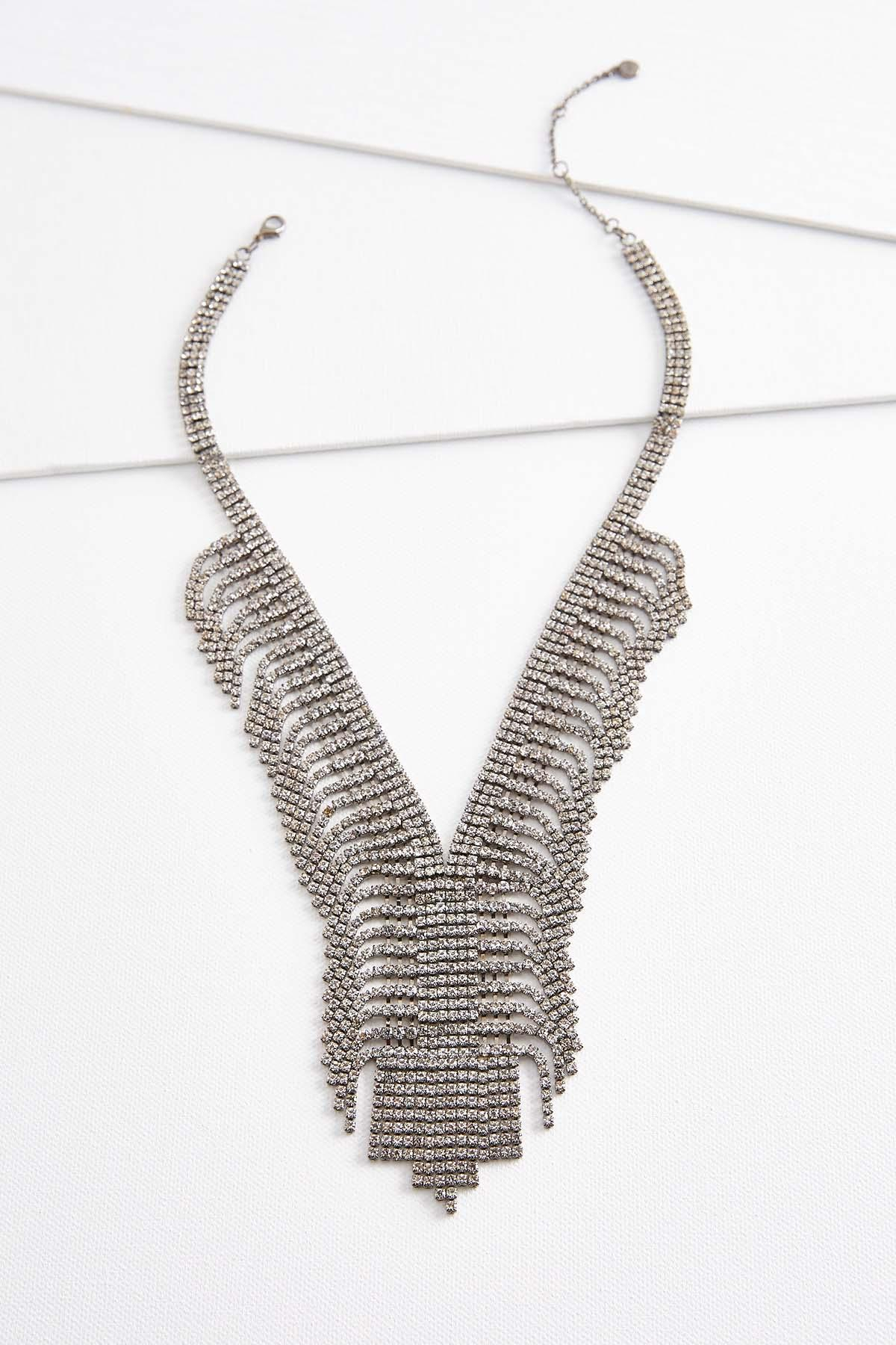Mini Rhinestone Y Necklace Within Best And Newest Sparkling Pattern Necklaces (View 12 of 25)