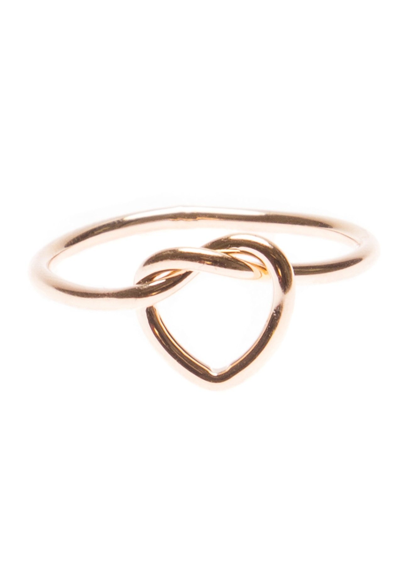 Minimalist Heart Knot Ring For Most Recently Released Knotted Hearts Rings (View 10 of 25)