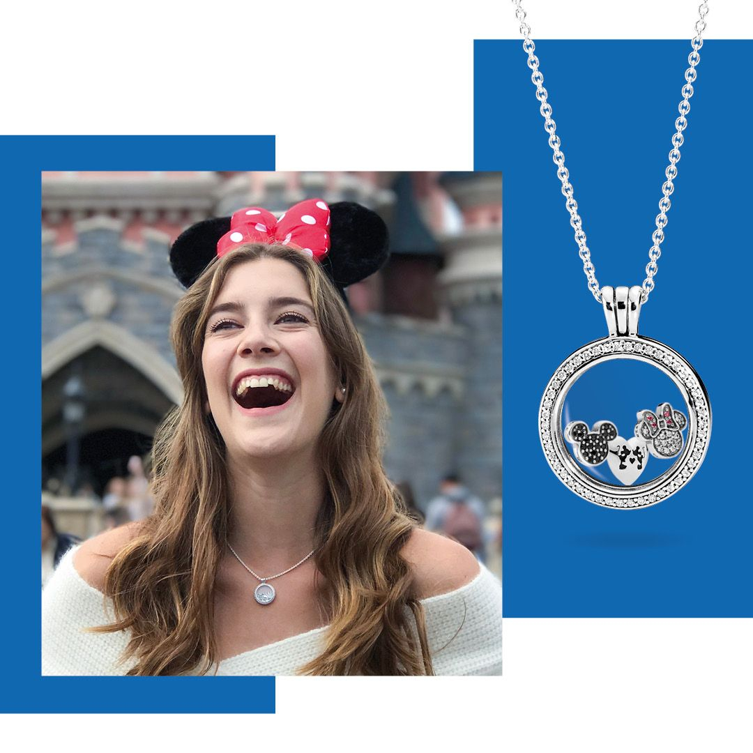 Minnie Mouse | Pandora X Disney | Pandora Floating Locket, Pandora Pertaining To Most Current Disney Mickey Floating Locket Necklaces (View 4 of 25)