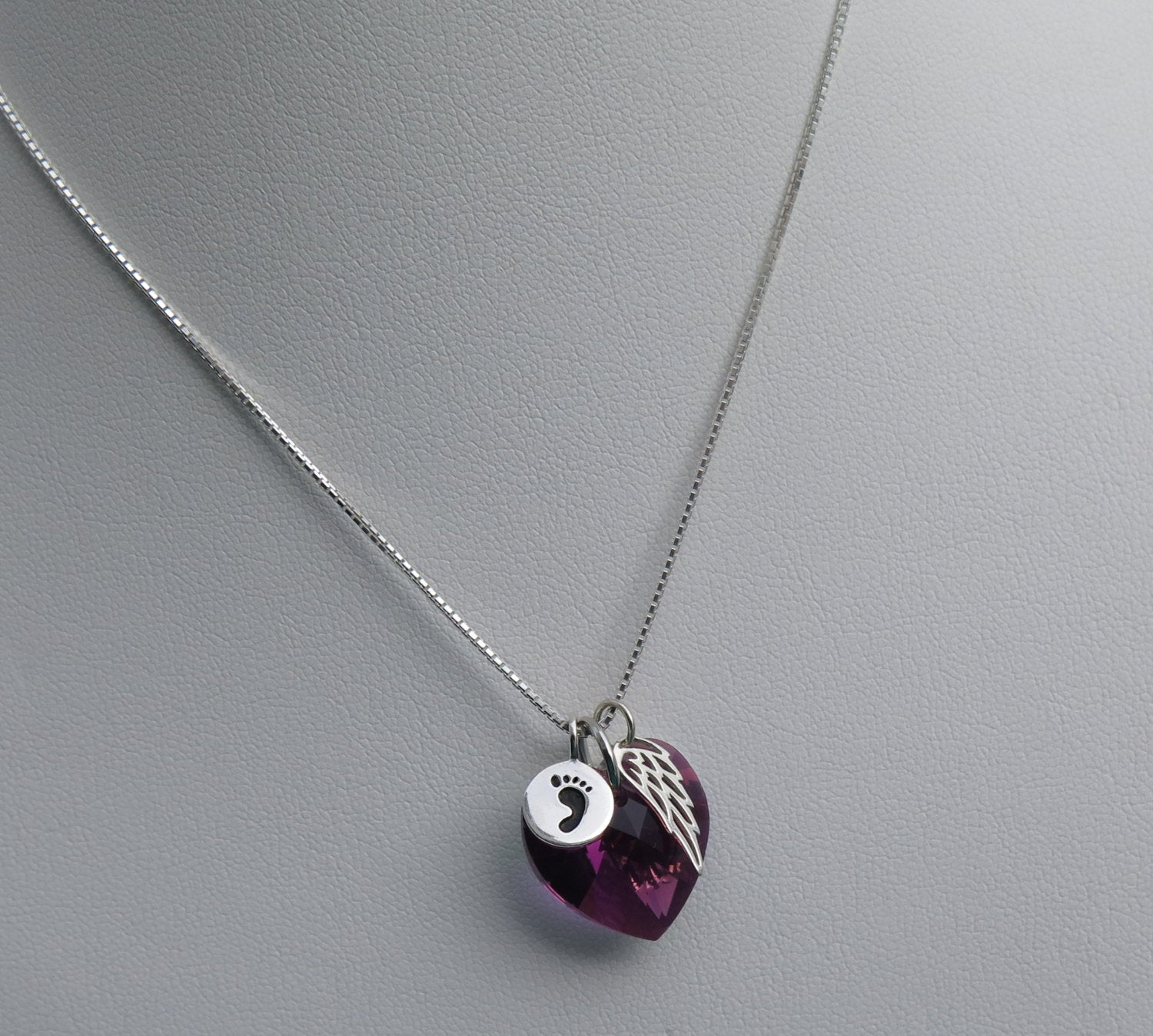 Miscarry Gift – Miscarry Necklace – Miscarry Jewelry  February For Most Recently Released Purple February Birthstone Locket Element Necklaces (View 17 of 25)