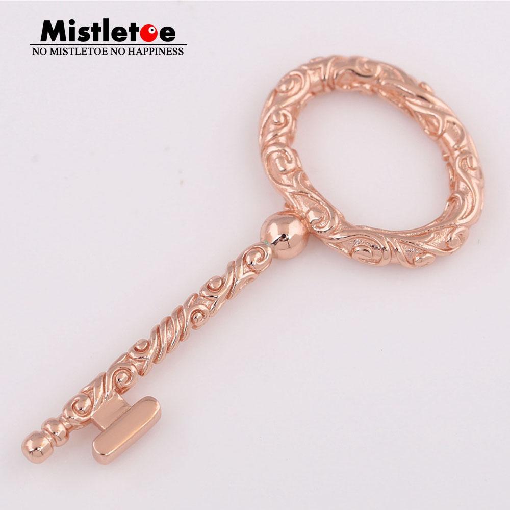Mistletoe 925 Sterling Silver Regal Key Pendant, Mistletoe Rose Fit  European Necklace Jewelry Inside Current Regal Key Pendant Necklaces (Gallery 13 of 25)