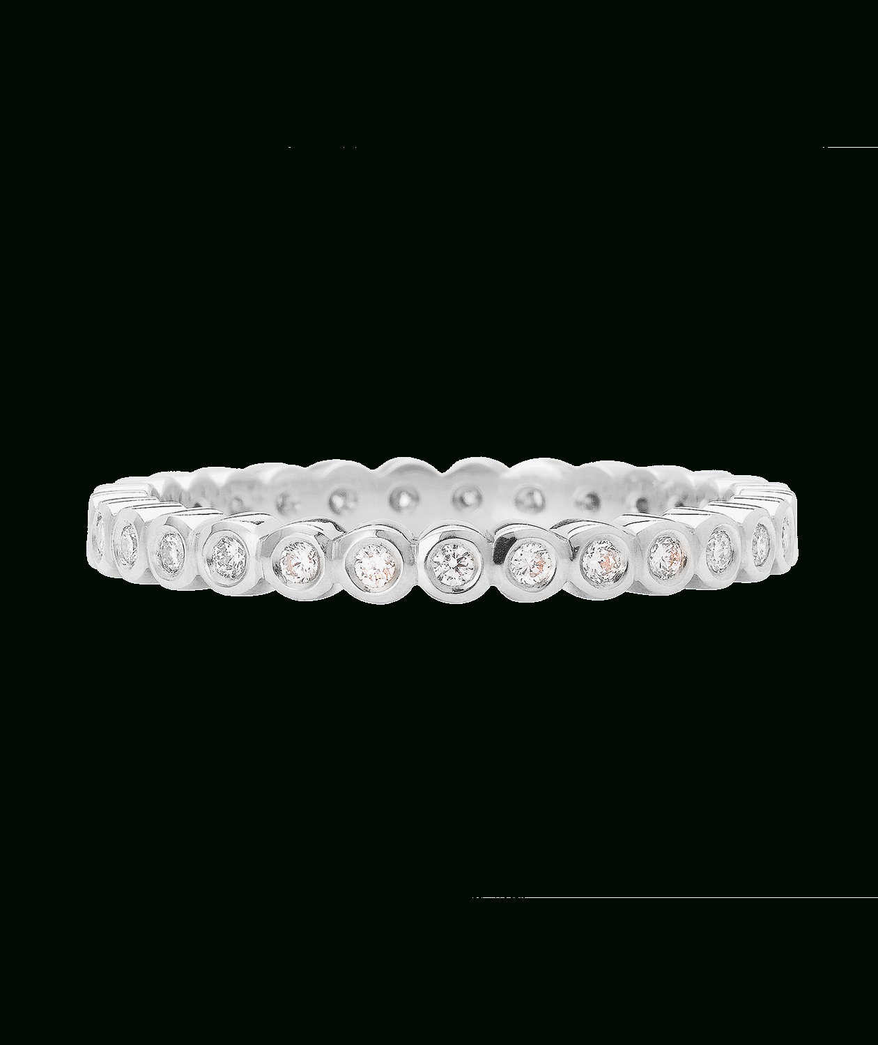 Modern Eternity Band Inside Most Popular Champagne And White Diamond Edge Anniversary Bands In Rose Gold (View 12 of 25)
