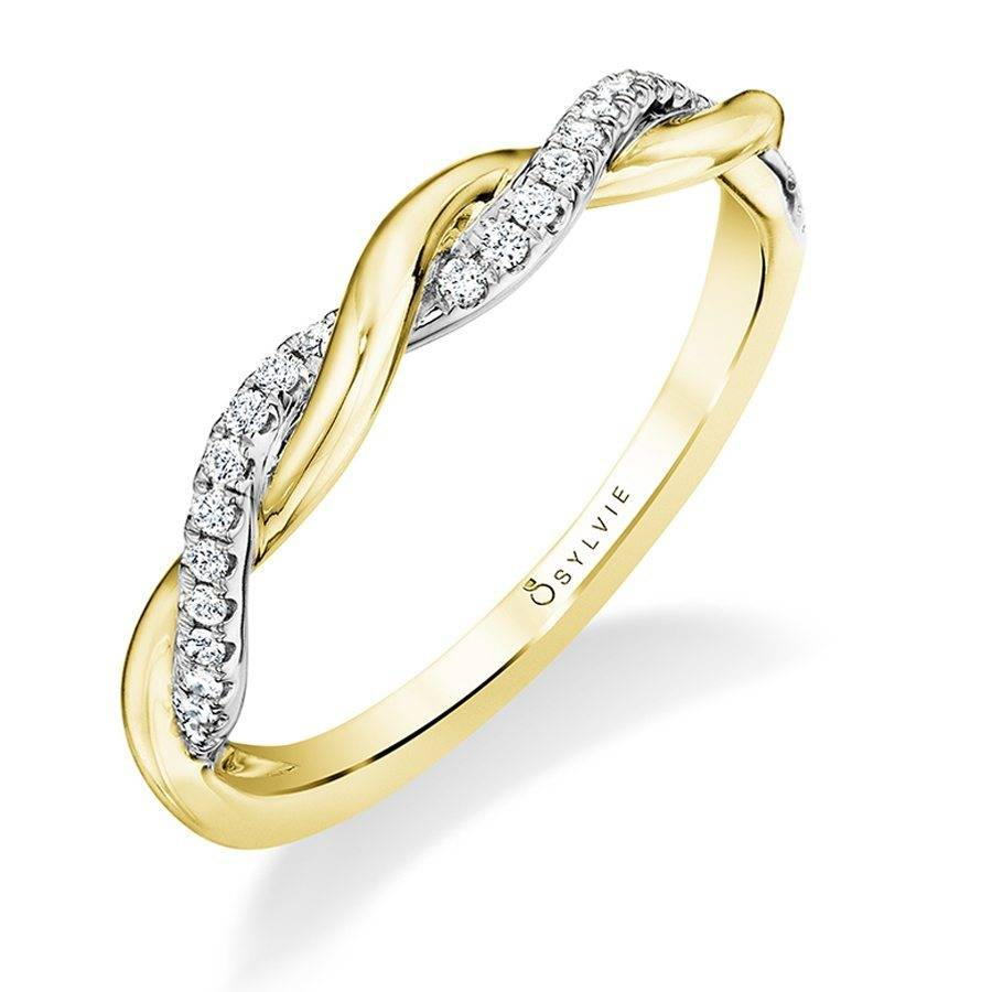 Modern Yellow Gold Spiral Wedding Band – Sylvie Collection Regarding Most Popular Diamond Braid Anniversary Bands In White Gold (View 16 of 25)