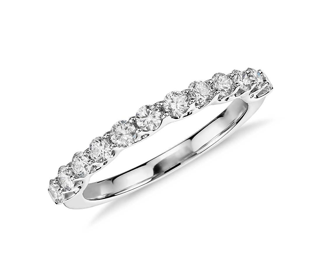 Monique Lhuillier Adoration Diamond Ring In Platinum (1/2 Ct With Regard To Most Popular Diamond Double Row Contour Tiara Anniversary Bands In White Gold (Gallery 23 of 25)