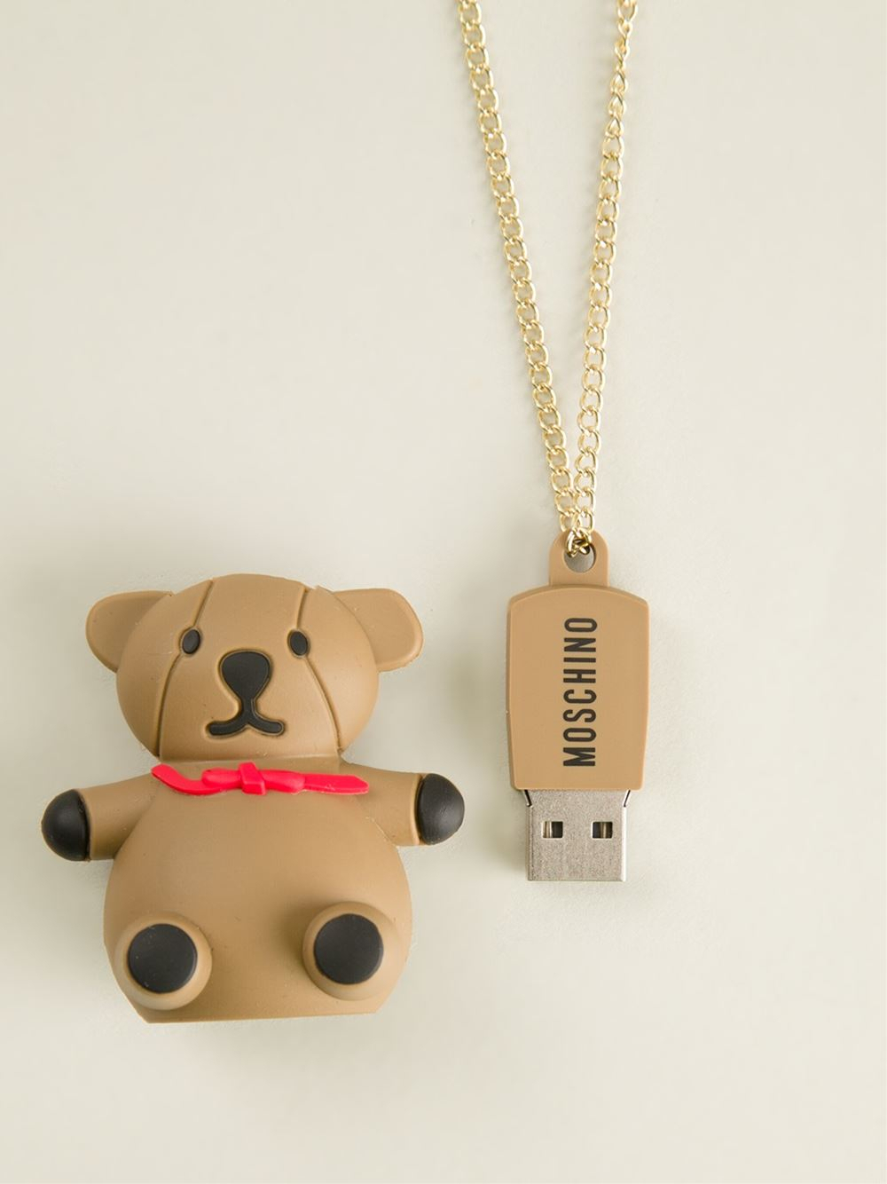 Moschino Bear Pendant Necklace In Metallic – Lyst With Regard To Newest Theodore Bear Pendant Necklaces (Gallery 15 of 25)