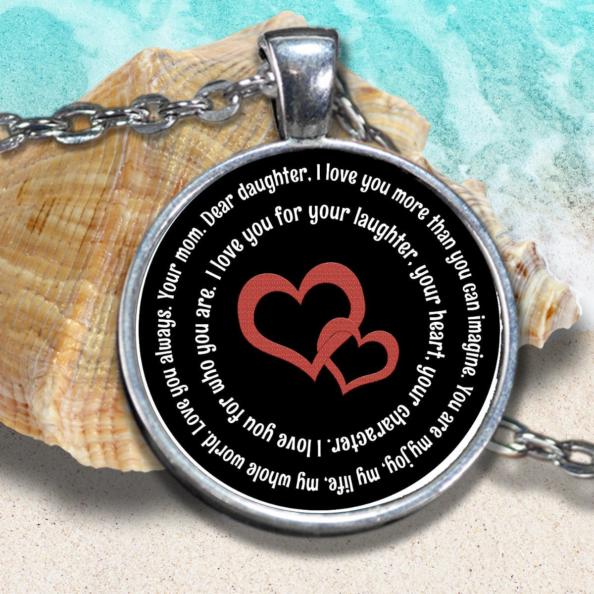 Mother Daughter Pendant, Necklace, Gift For Daughter ,you Are My Joy, My Love,my Life (View 15 of 25)