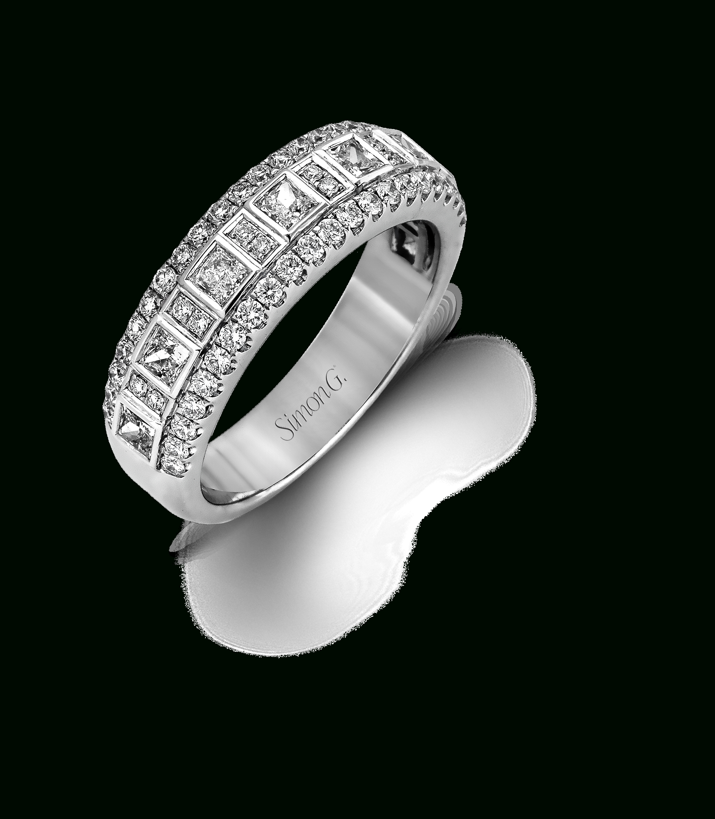 Mr1594 Anniversary Band | Riveting Rings | Vintage Diamond With Newest Princess Cut Diamond Anniversary Bands In White Gold (View 14 of 25)