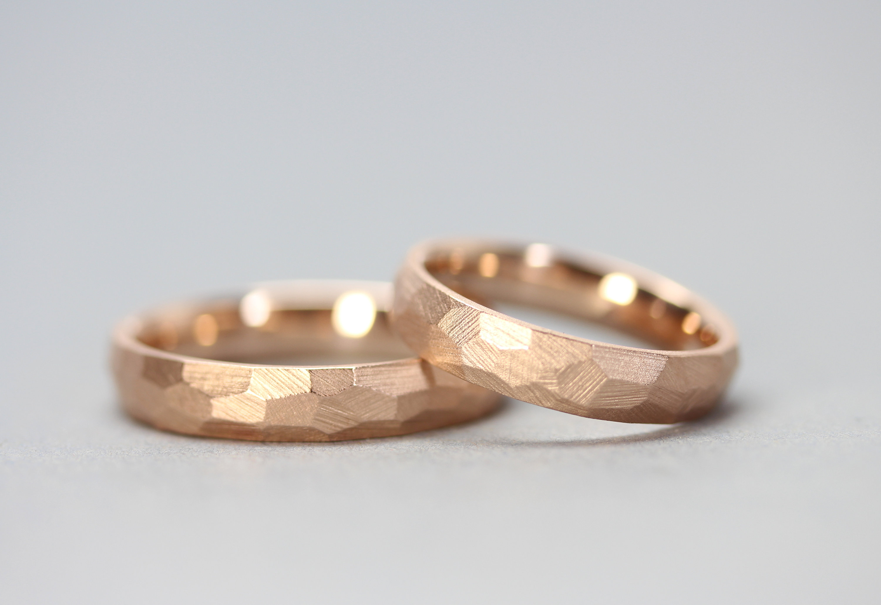 Multifaceted Wedding Rings In 585/red Gold Pertaining To Current Multifaceted Rings (View 19 of 25)
