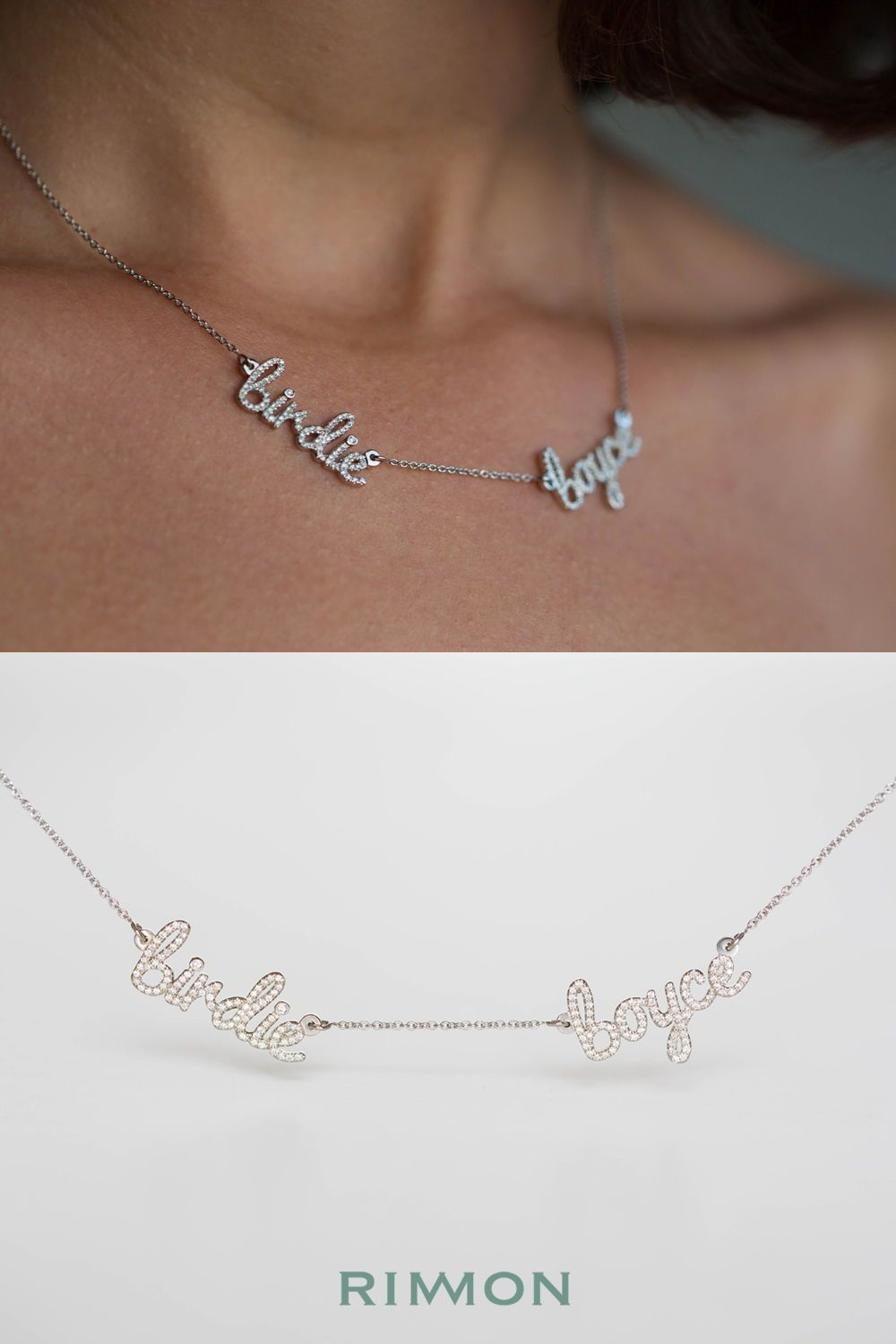 Multiple Names Diamond Necklace | Easter Valentines St Patricks Inside Most Up To Date Ampersand Alphabet Locket Element Necklaces (Gallery 14 of 25)