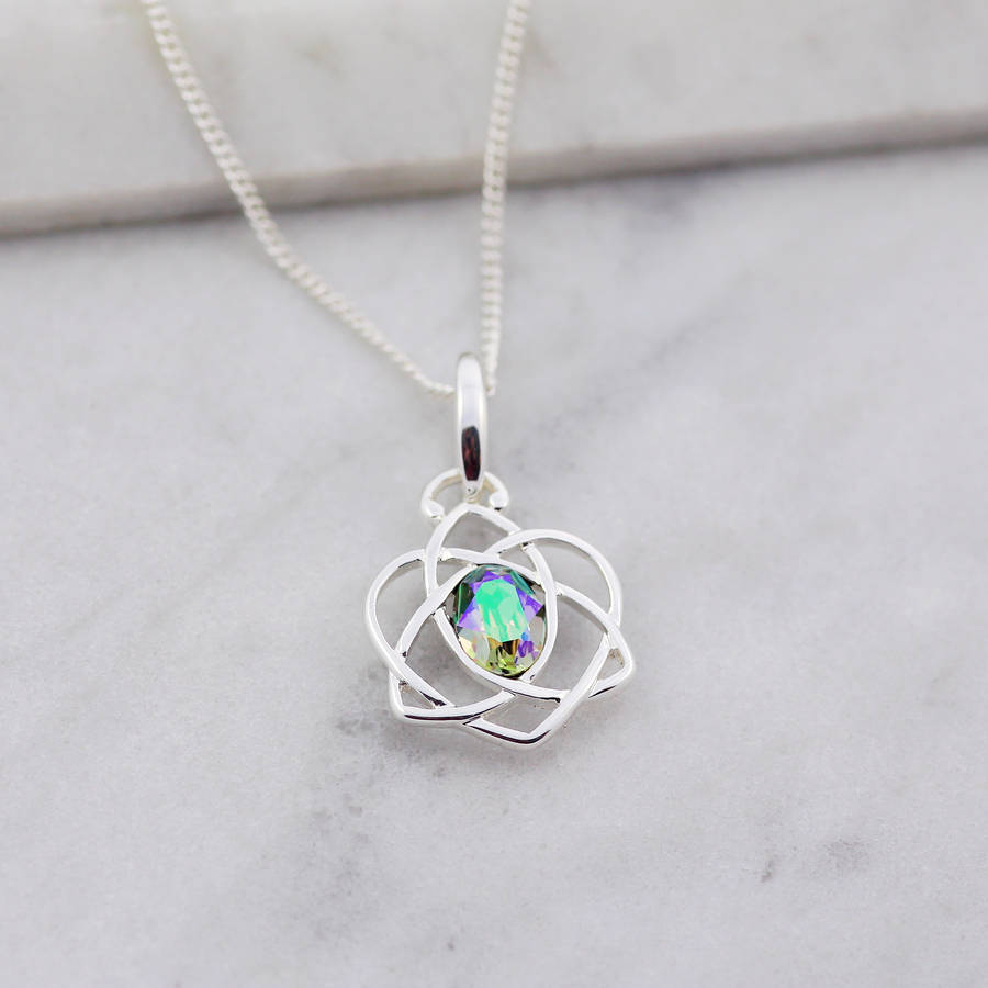 My Charm Story Trinity Love Knot Necklace In 2019 Shimmering Knot Locket Element Necklaces (View 10 of 25)