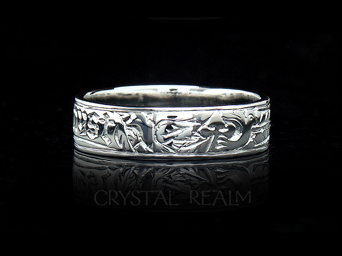 'my Heart, My Soul, My Spirit,' Traditional German Posy Ring In Platinum For Most Up To Date Polished Heart Puzzle Rings (View 1 of 25)