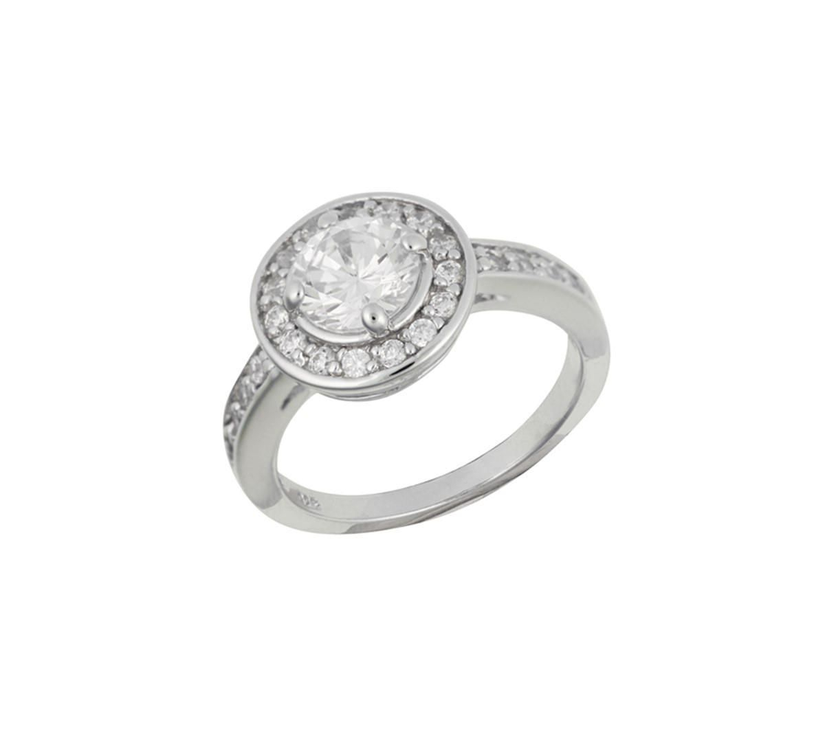 N/a Sterling Silver Round Cubic Zirconia Halo Ring – Size 7 In Most Current Round Sparkle Halo Rings (View 12 of 25)
