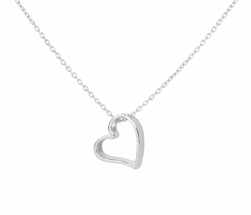 Necklace Heart Pendant – Sterling Silver – Arlizi 1541 Throughout 2019 Heart Of Winter Necklaces (View 5 of 25)
