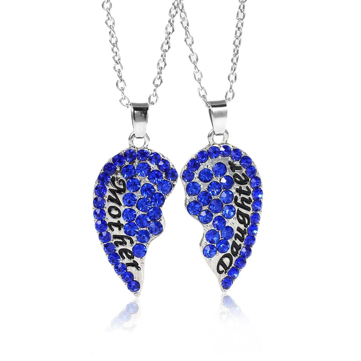 """Necklace Long Link Cable Chain Broken Heart Message """" Mother Pertaining To Most Popular Long Link Cable Chain Necklaces (Gallery 21 of 25)"""