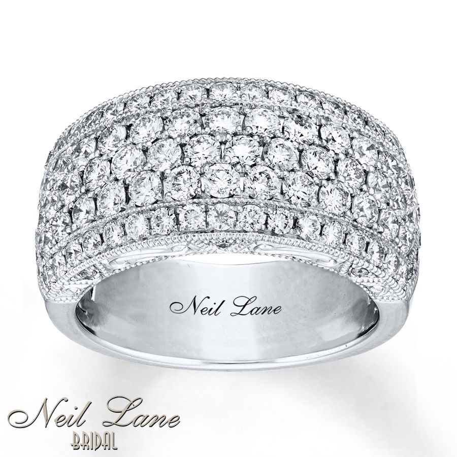 Neil Lane Anniversary Band 2 Ct Tw Diamonds 14K White Gold With Regard To 2020 Diamond Five Row Anniversary Rings In White Gold (Gallery 7 of 25)