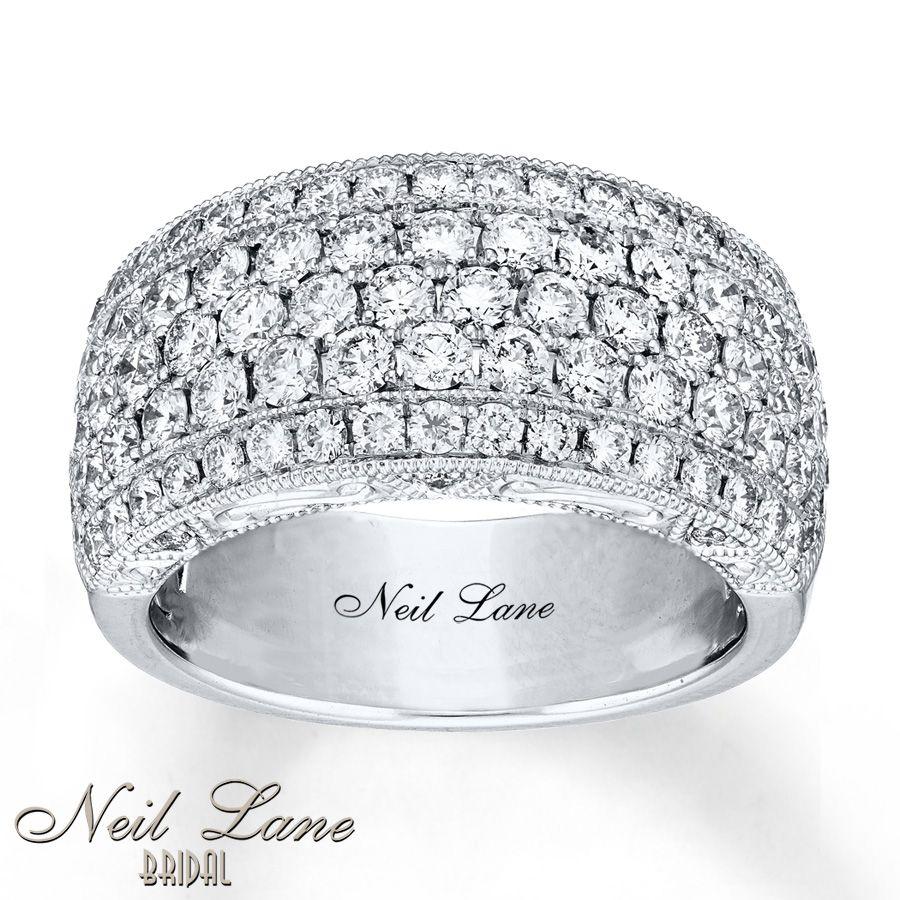 Neil Lane Anniversary Band 2 Ct Tw Diamonds 14K White Gold With Regard To 2020 Diamond Five Row Anniversary Rings In White Gold (View 19 of 25)