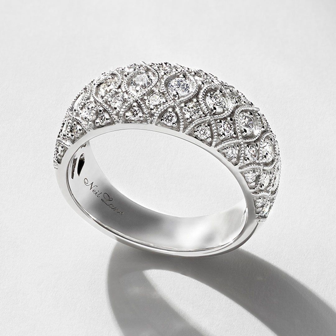 Neil Lane Bridal Anniversary Band 1 Ctw Diamonds 14K White Intended For Newest Diamond Vintage Style Anniversary Bands In Gold (Gallery 21 of 25)