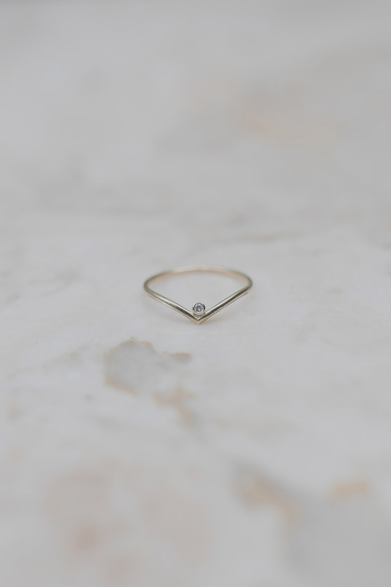 Nest // Diamond Wishbone Ring Intended For Most Current Polished Wishbone Rings (Gallery 16 of 25)