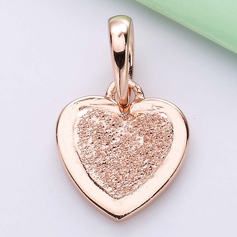 New 925 Sterling Silver Charm Rose Gold Matte Brilliance Heart Necklace Pendant Beads Fit Pandora Bracelet Bangle Diy Jewelry Intended For 2019 Matte Brilliance Heart Pendant Necklaces (View 2 of 25)