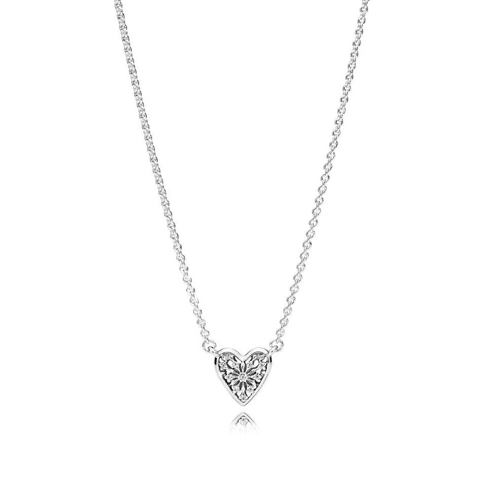 New 925 Sterling Silver Heart Of Winter Necklace With Crystal Pendant  Necklace For Women Wedding Gift Fit Lady Jewelry With Regard To 2020 Heart Of Winter Necklaces (View 8 of 25)
