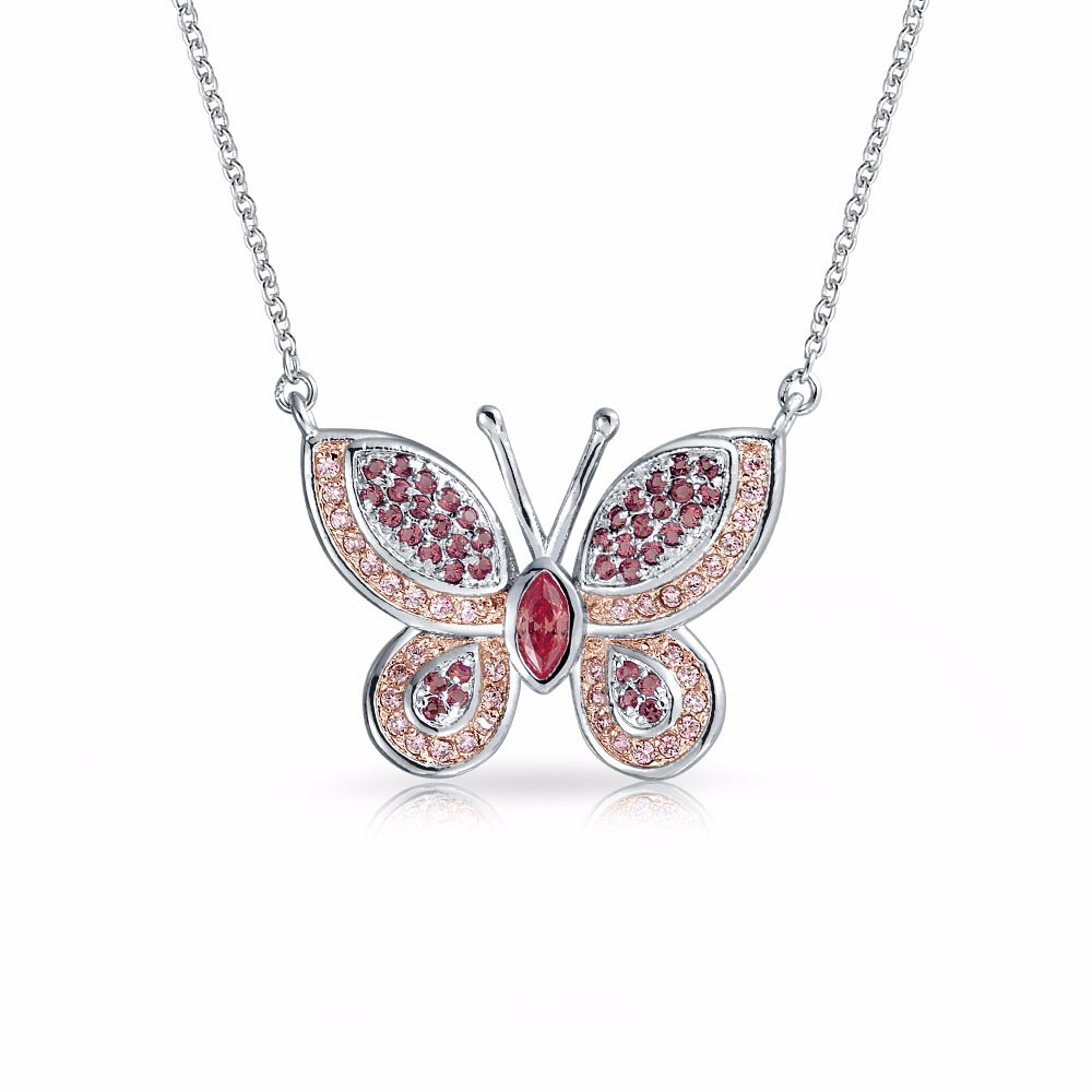 New Arrival Fashion Pendant Necklace Jewelry 925 Sterling Silver Micro Pave  Cz Butterfly Pendant Long Chain Butterfly Necklace – Buy Butterfly With Regard To Newest Pavé Butterfly Pendant Necklaces (Gallery 25 of 25)