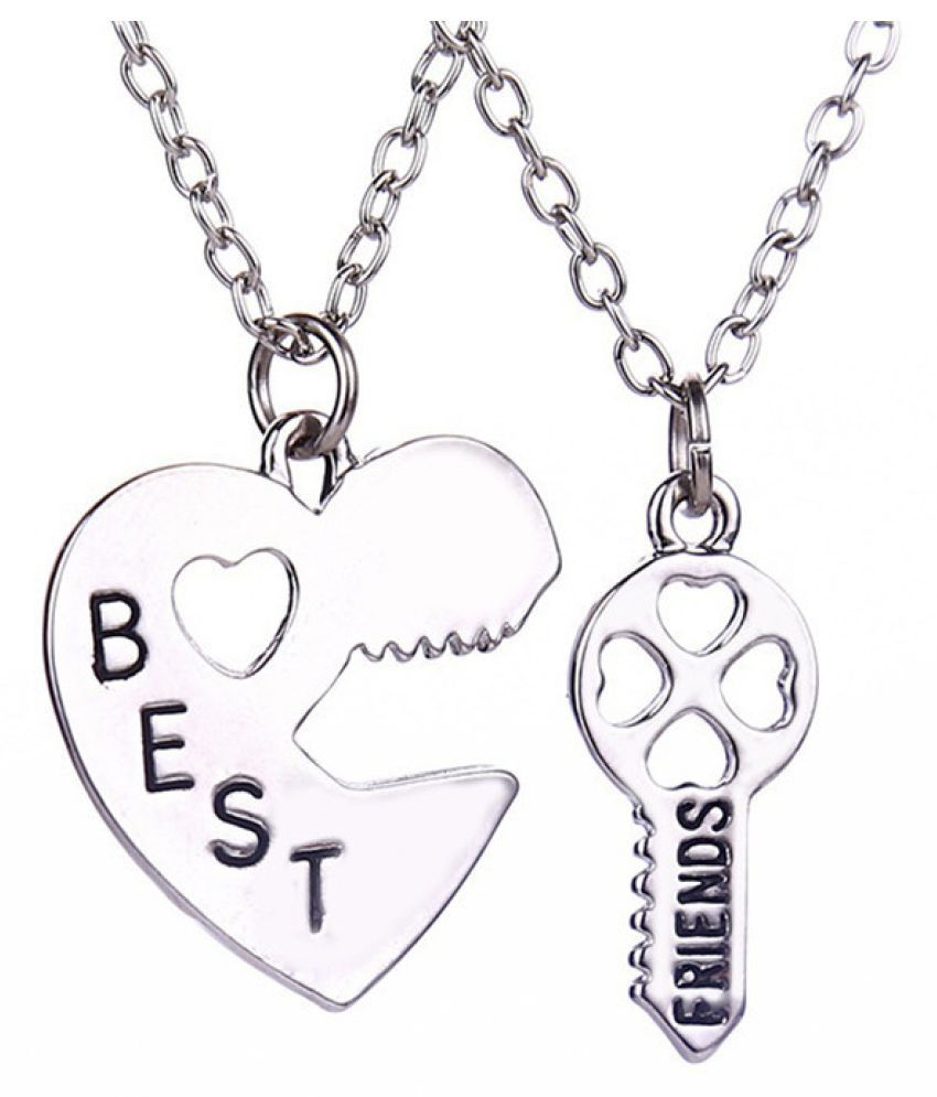 New Best Friends Pendant Necklaces Fashion Heart Key Letters In Most Recent Best Friends Heart & Key Necklaces Pendant Necklaces (View 13 of 25)