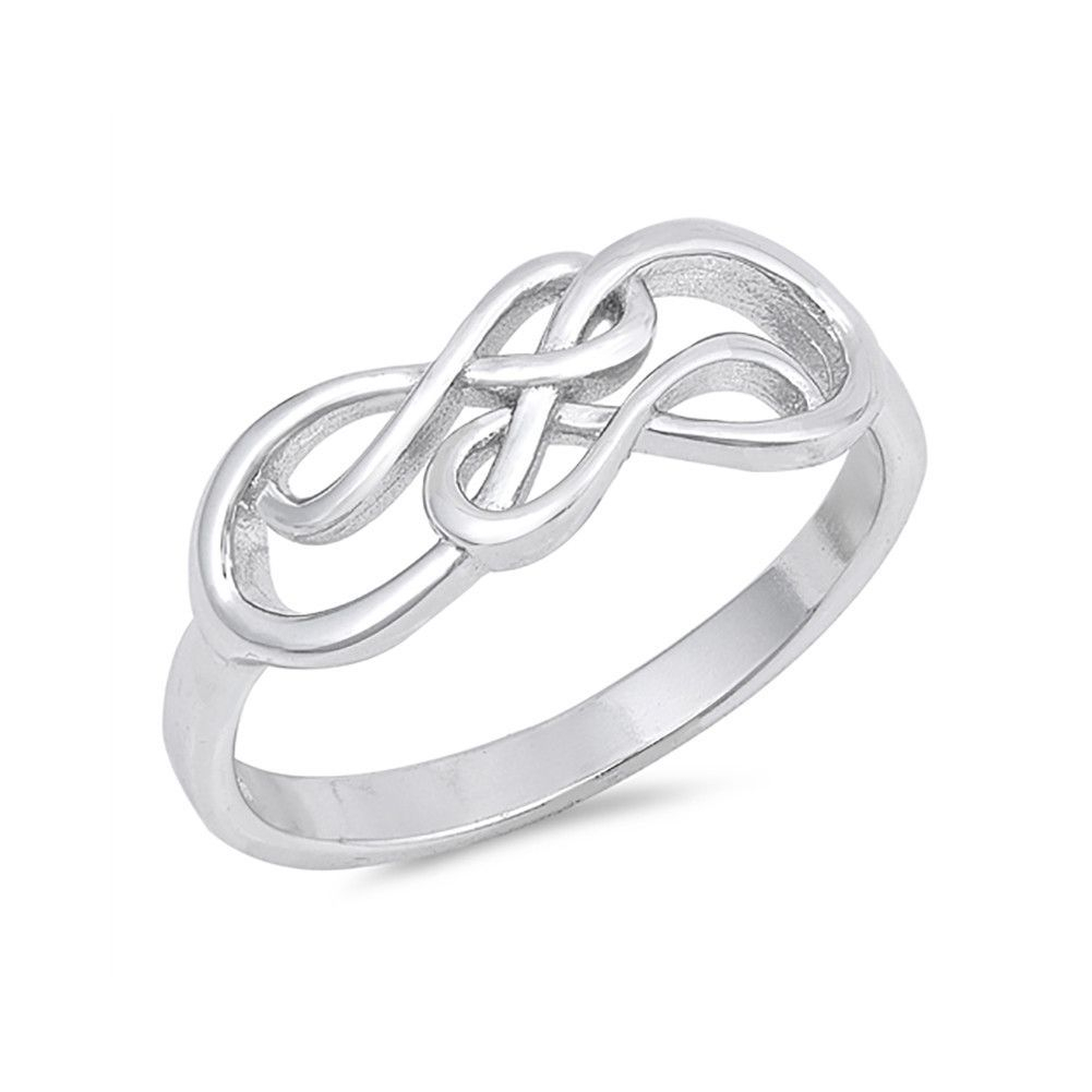 New Design Double Infinity Band Ring 925 Sterling Silver Simple For Latest Simple Infinity Band Rings (Gallery 22 of 25)