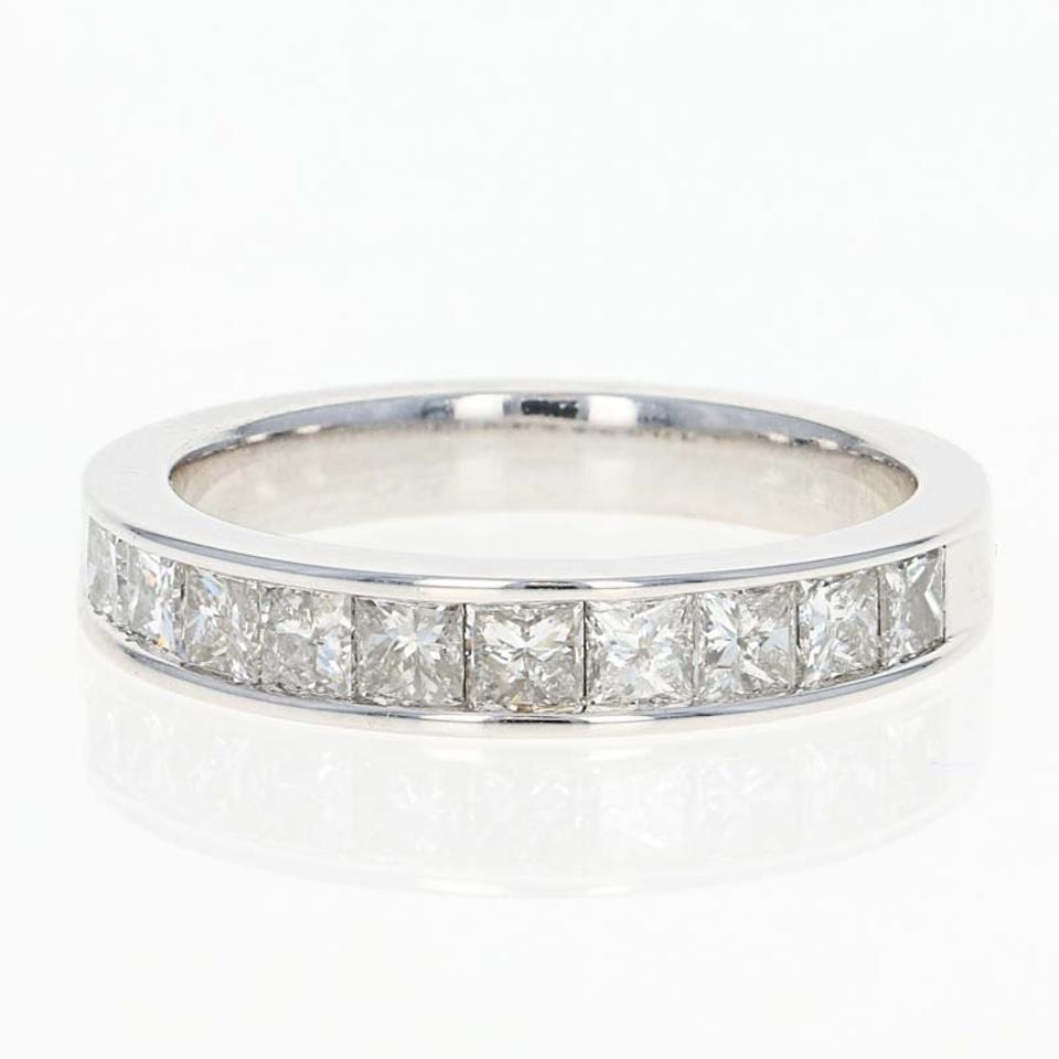 New Diamond – 14K White Gold Anniversary Princess Cut 1.0 Women's Wedding  Band Inside Most Up To Date Princess Cut Diamond Anniversary Bands In White Gold (Gallery 21 of 25)
