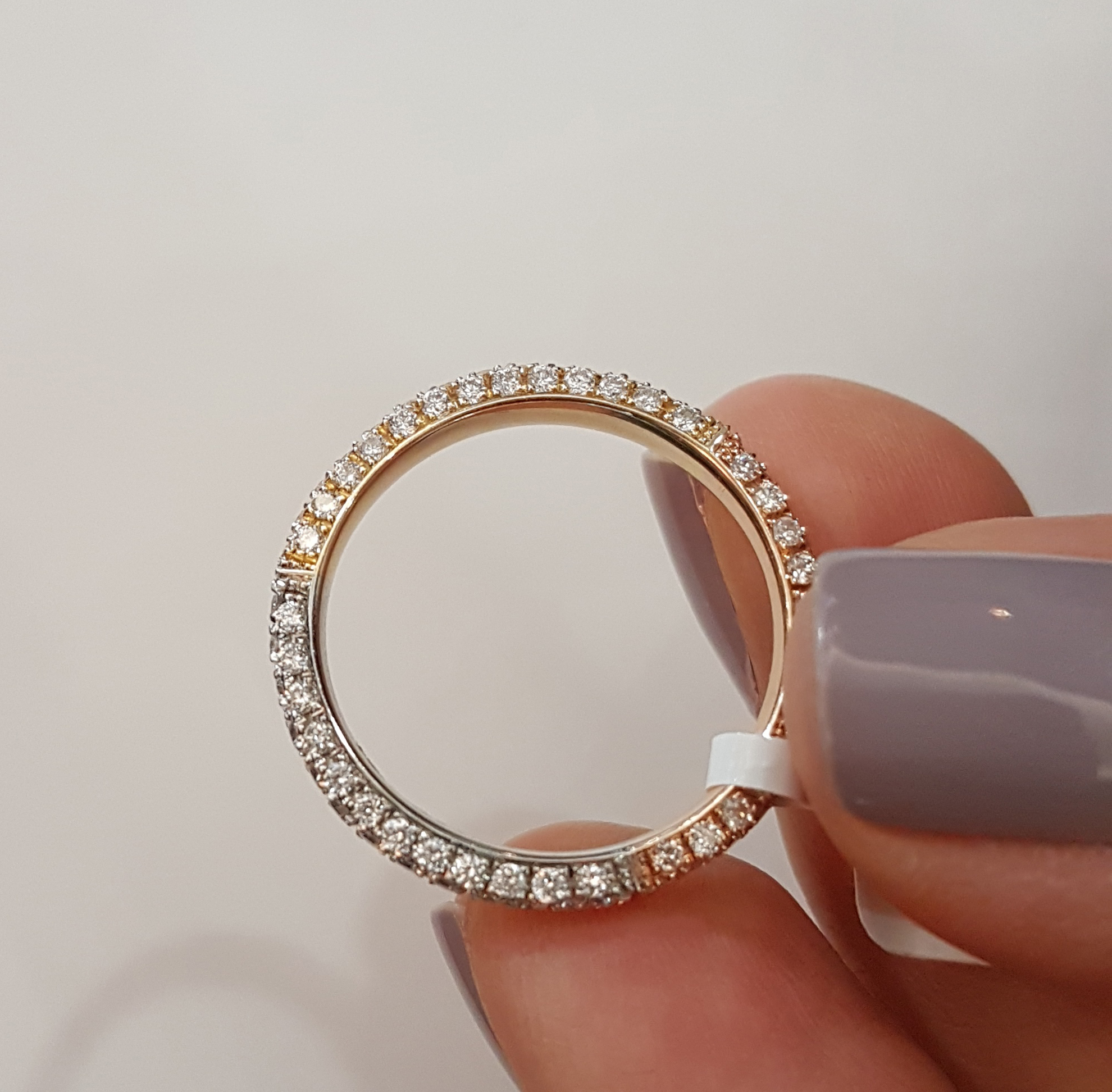 New: Multi Colored Gold Wedding Bands From Lauren B Inside 2020 Diamond Five Stone Triple Row Anniversary Bands In White Gold (View 18 of 25)