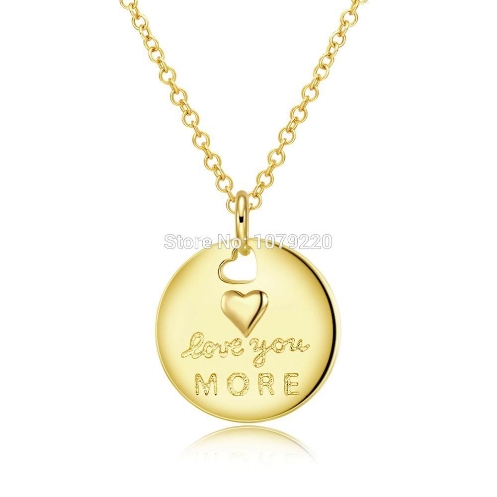 Featured Photo of Heart & Love You More Round Pendant Necklaces