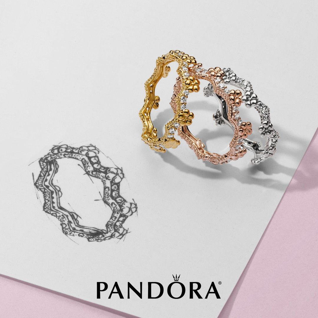 New Spring Arrivals: Stackable Flower Crown Rings In Sterling Silver Regarding Current Flower Crown Rings (View 2 of 25)