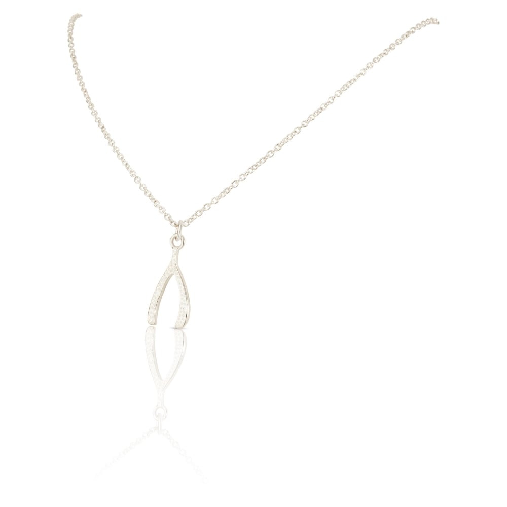 "New Sterling Silver Polished Wishbone Pendant & 17"" Necklace Throughout 2020 Polished Wishbone Necklaces (View 11 of 25)"
