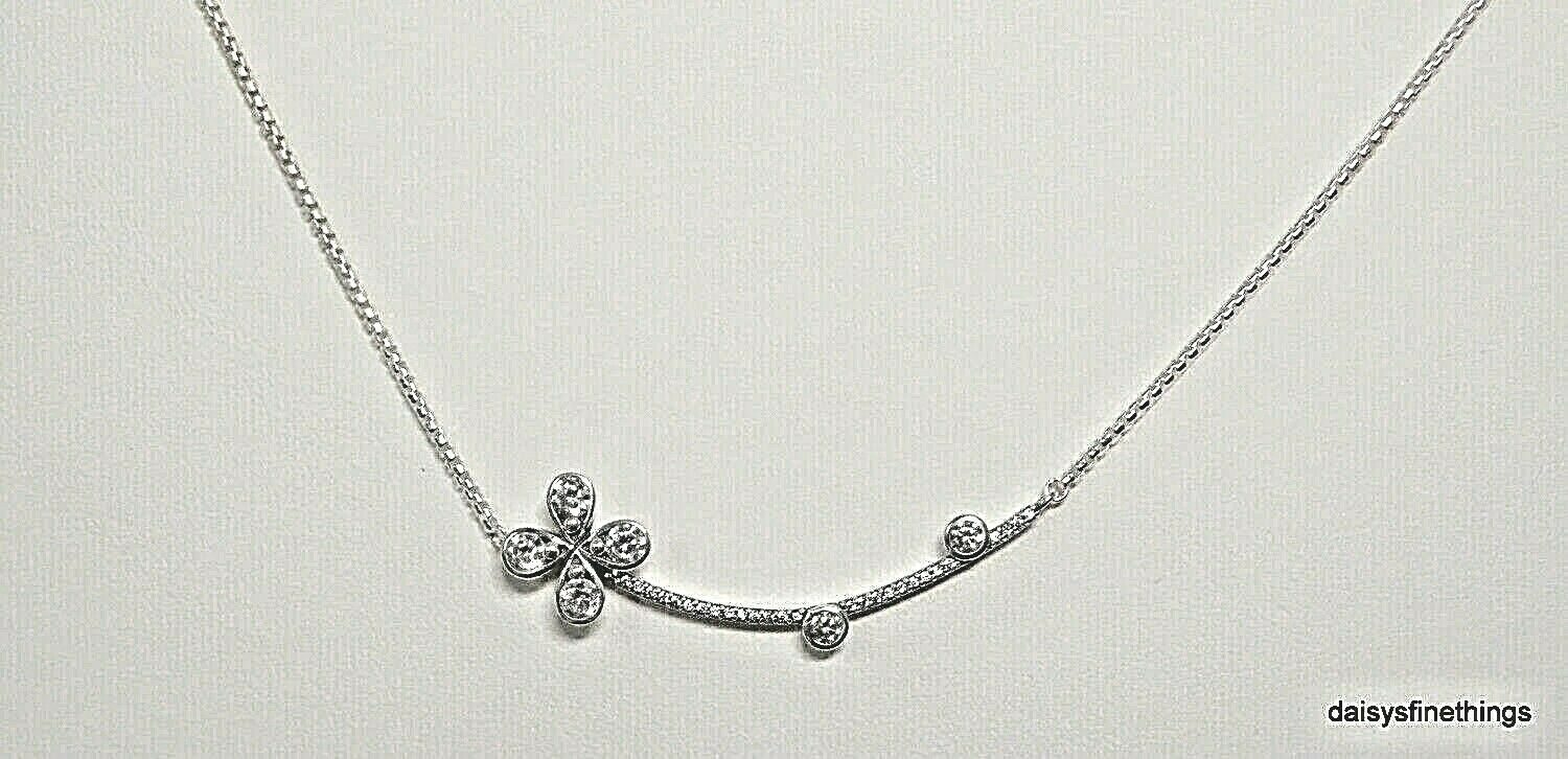 New/tags Authentic Pandora Necklace Four Petal Flower Clear Cz, 397956cz 50 Box With Most Recently Released Four Petal Flower Necklaces (View 10 of 25)