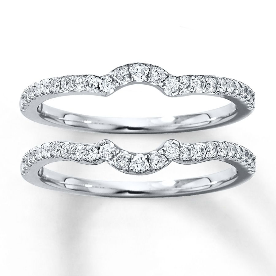 New Wedding Band? | Jewelry In 2019 | Double Wedding Bands With Most Up To Date Diamond Double Row Contour Tiara Anniversary Bands In White Gold (View 15 of 25)