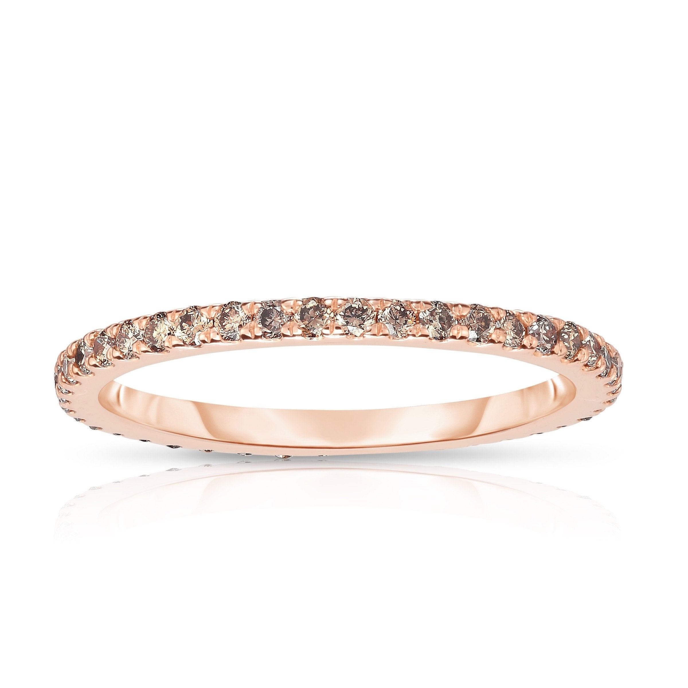 Noray Designs 14k Rose Gold Champagne Diamond ( (View 2 of 25)